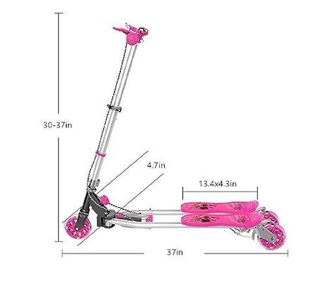 Amazon.com: DaBao Patinete de 3 ruedas – Altura ajustable ...