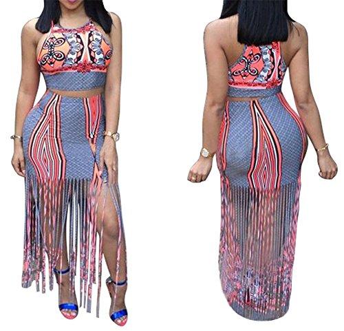 Outfits Backless Wrapped Tasseles Dress