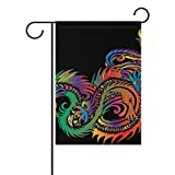 Home Decorative Outdoor Double Sided Tribal Sea Dragon Creature Monster Mythical Garden Flag,house Yard Flag,garden Yard Decorations,seasonal Welcome Outdoor Flag 12 X 18 Inch Spring Summer Gift