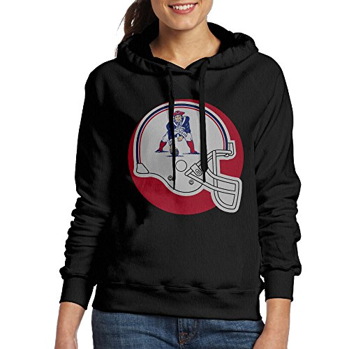 Bekey Women's New England Pat Patriot Hoodie Jacket XXL Black