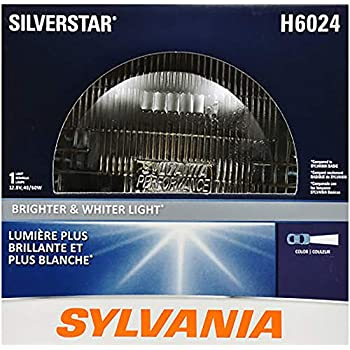 SYLVANIA - H6024 SilverStar Sealed Beam Headlight - High Performance Halogen Headlight Replacement (7
