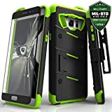 Samsung Galaxy Note 7 Case, Zizo Bolt Cover with [.33m 9H Tempered Glass Screen Protector] Included [Military Grade] Armor Case Kickstand Holster Belt