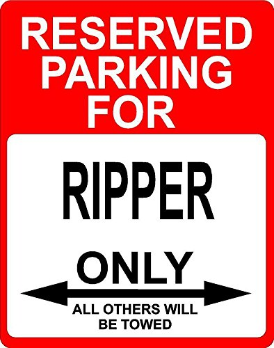 """Any and All Graphics Ripper Occupation Reserved Parking only Others Towed décor Sign 7""""x10"""" Aluminum."""