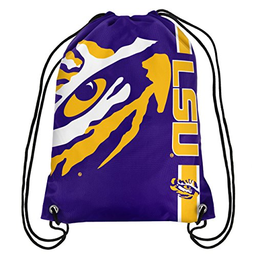 NCAA LSU Tigers 2015 Drawstring Backpack, Yellow (State University Tigers Football)