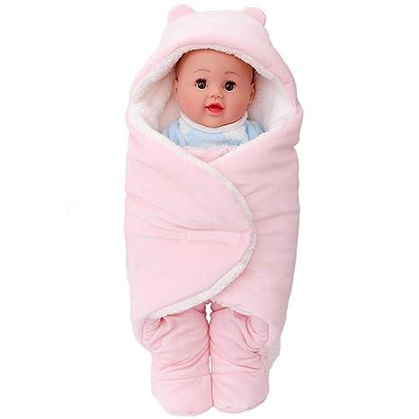 Saco de dormir de franela para bebé, manta para bebé recién nacido, saco de