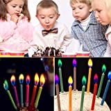 12pcs/box Multicolour Flame Birthday Candle Home Decoration Multicolour - Best Reviews Guide