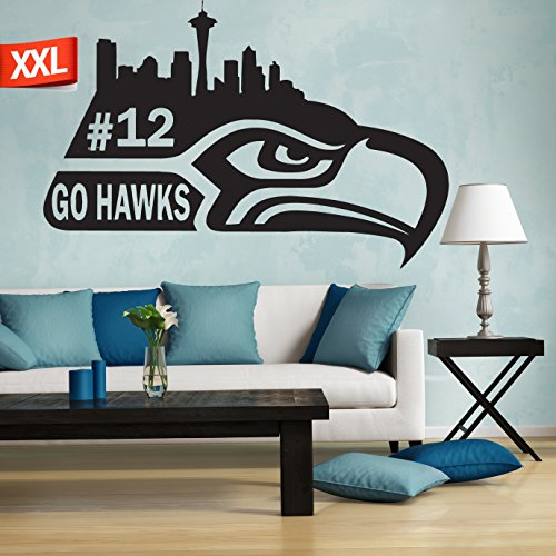 Seattle Seahawks logo decal, NFL logo decal, Seattle Seahawks decal, Seattle Seahawks, Seahawks decal, Seahawks sticker, Seahawks large decal pf19 (22