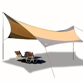 LIGHTOP Toldo Refugio Impermeable Plegable Portátil Lona para Campaña Picnic Pescada Senderismo