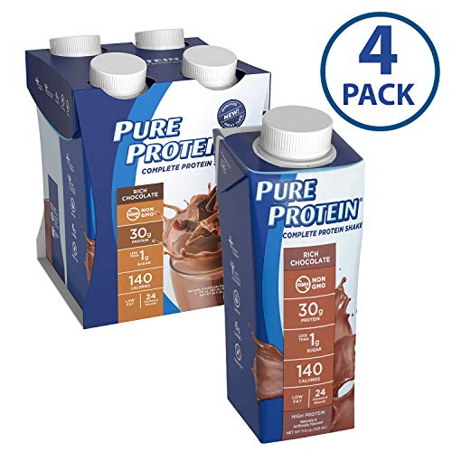 (Pure Protein Complete Ready to Drink Shakes, High Protein Rich Chocolate, 11oz, 4 Count )