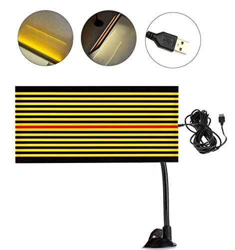 Line Board (GS PDR Led Reflector Stripe Line Board Paintless Dent Removal Repair Tools with 5m Long USB Cable and Ajustment Holder Yellow light)