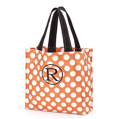 BW Fabric Tote Storage Halloween (Personalized, Orange