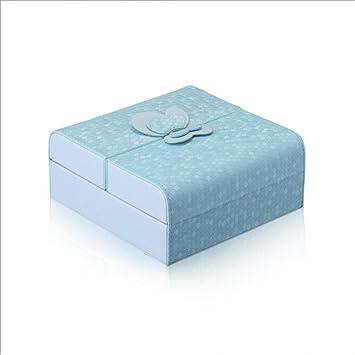 YiMu Schmuckschatulle mit Ballerina Für Elise 15x15x6.5cm, Weiß Blau ...
