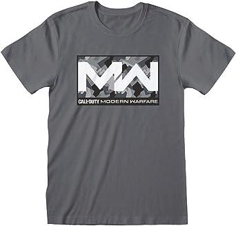 Call of Duty Modern Warfare – Camo Box – Camiseta gris hombre manga corta impresión frontal – Producto oficial camiseta: Amazon.es: Ropa y accesorios