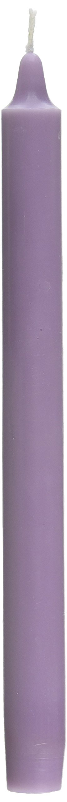 Zest Candle 12-Piece Taper Candles, 10-Inch, Lavender Straight by Zest Candle