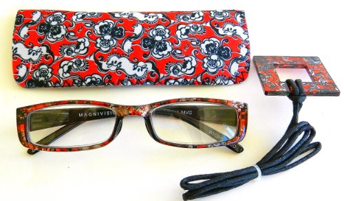 Foster Grant / Magnivision (+1.50) Paisley Design Reading Glasses with Case- - Sunglasses Magnivision