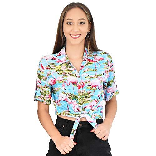 ISLAND STYLE CLOTHING Ladies Shirt (Turq Flam, S)