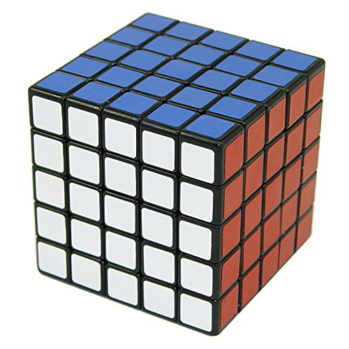 Energlite 5X5X5 Speed Magic Plastic Cube Ultra-smooth Educational Puzzle Cube Toy Black
