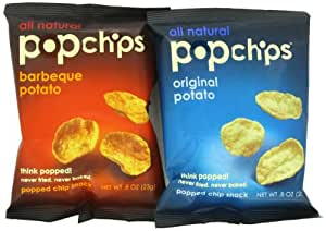 PopChips All Natural Chips, 100 calories per bag, 18 bags
