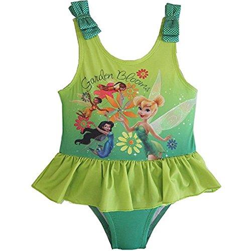Disney Fairies Little Girls' Toddler Tinkerbell Swimsuit (5T) (Tinkerbell Bathing Suit)