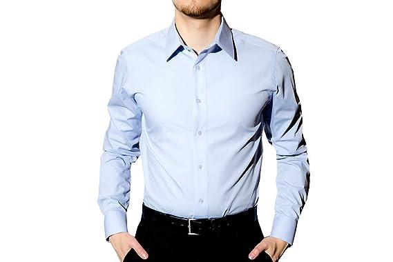 Amazon.com: Adolfo – Slim Fit Vestido Camisa para hombre ...