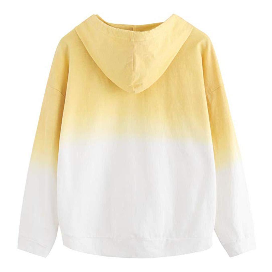 ❤ Sudadera con Capucha para Mujer Gradiente,Blusa de Manga Larga con Estampado de Patchwork Estampado Absolute: Amazon.es: Ropa y accesorios