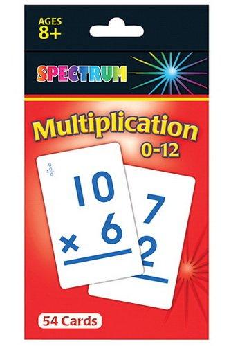Carson-Dellosa CD-734008 Spectrum Flash Cards Multiplication