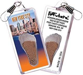 product image for New York City FootWhere Souvenir Zipper-Pull. Made in USA (NYC303 - Manhattan)