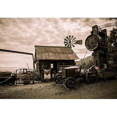 Wall26 - Jerome Arizona Ghost Town Mine Windmill Wild Western - Removable Wall Mural | Self-adhesive Large Wallpaper - 100x144 inches