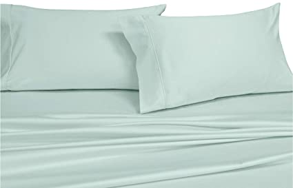 Royal Hotel Top Split King: Adjustable King Bed Sheets 4PC Solid Sea 100