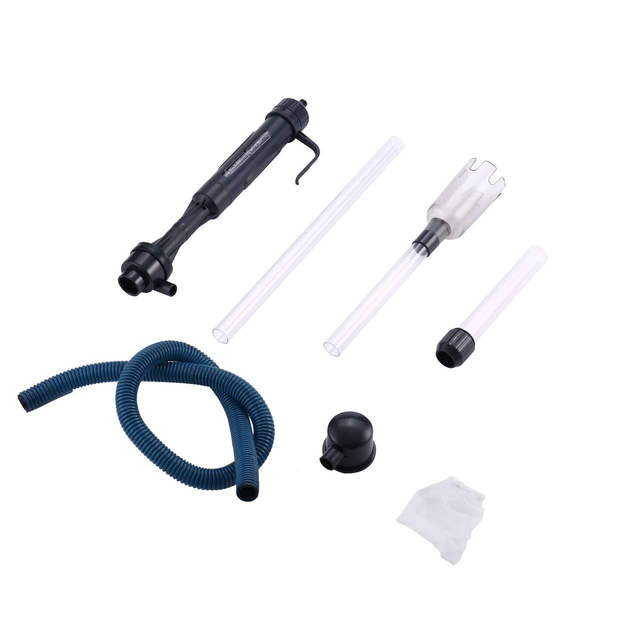 LoveOlvido - 1 Filtro de Agua para Acuario, Funciona con sifón, para depósito de Peces, para aspiradora, para Acuario