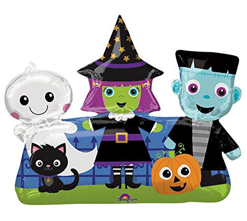 Burton & Burton Halloween Friends Foil Balloon, (Halloween Balloons Delivered)