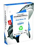 Hammermill Printing Paper, Great White Recycled Copy, 20lb, 8.5x11, Letter, 3-Hole Punch, 92 Bright, 500 Sheets/1 Ream (086702R) Made In The USA