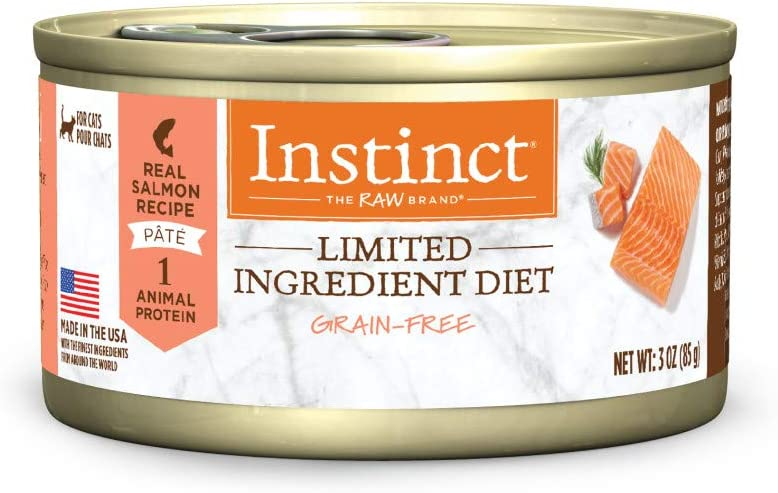 Instinct Limited Ingredient Wet Cat Food, Limited Ingredient Diet Natural Grain Free Canned Cat Food