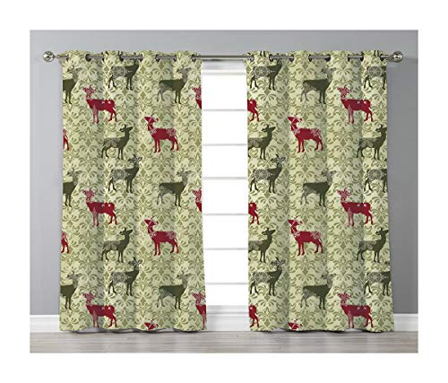 (Goods247 Blackout Curtains,Grommets Panels Printed Curtains Living Room (Set of 2 Panels,42 84 Inch Length),Deer)