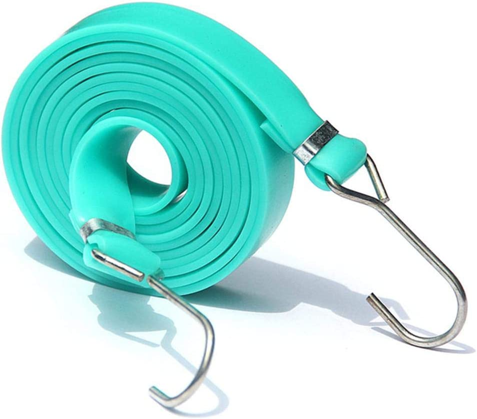 Cargo Tarp Tie Down Adjustable Flat Bungee Cord Flat Bungee Cords with Bungees Elastic Belt Total Length with Adjustable Length Hooks Camping Heavy Duty Bungie Cord Tie Downs for Hand Carts