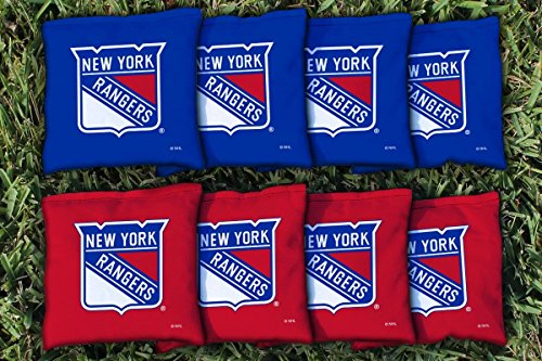 Victory Tailgate 8 New York Rangers NHL Cornhole Game Bag Set (8 Bags Included, Corn-Filled)
