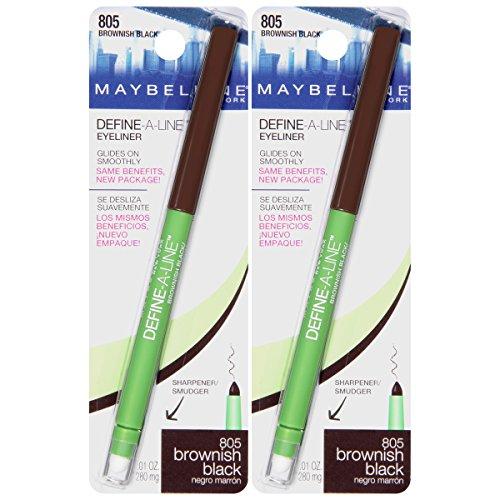 Maybelline New York Define-a-line Eyeliner Makeup, Brownish Black, 2 Count