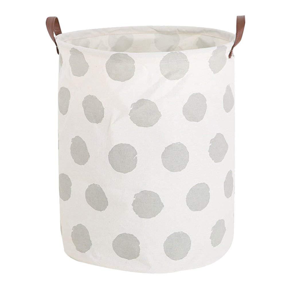 Bolsa de Almacenamiento con asa Organizador para Juguetes 40 * 50cm dise/ño de Rayas Style1 MoGist Cesto para la Ropa Plegable Ropa Sucia Redondo