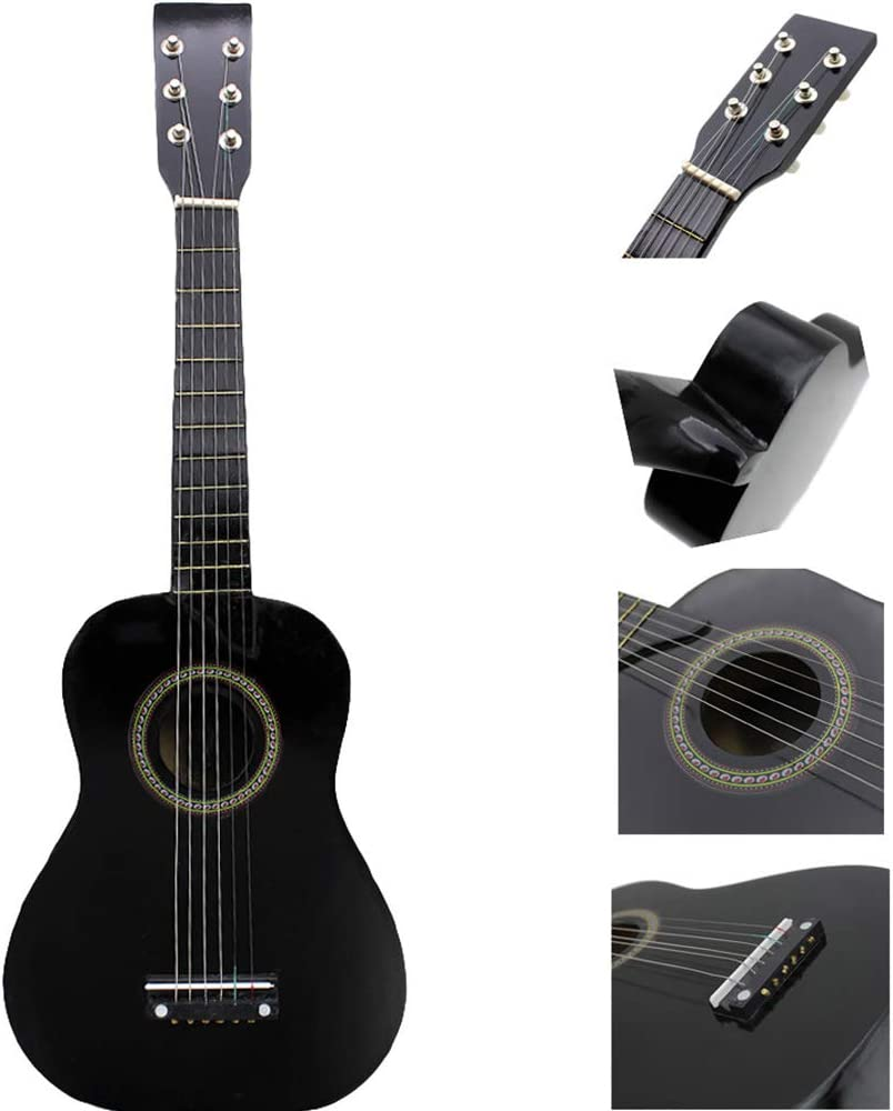 DEAR-JY Guitarra Folklórica, 25 Pulgadas Guitarra Acústica Folk Instrumento Musical Mini Guitarra Adecuada para Niños Principiantes Amantes De La Música Guitarra