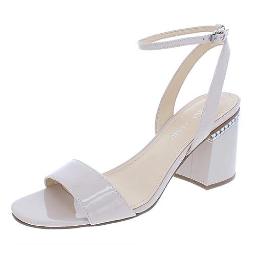 e9a1c49c483 Ivanka Trump Womens Anina Patent Leather Dress Sandals Beige 11 Medium  (B