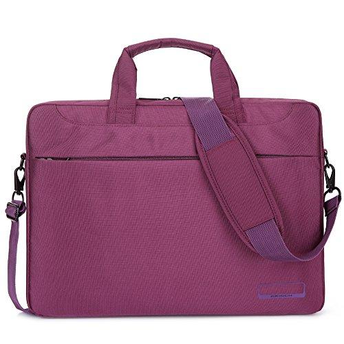Lightweight Notebook Case - BRINCH 15.6 Inch Oxford Fabric Lightweight Laptop Shoulder Case Messenger Bag For 15 - 15.6 Inch Laptop / Notebook / MacBook / Chromebook Computers with Shoulder Strap Handle and Pockets (Purple)