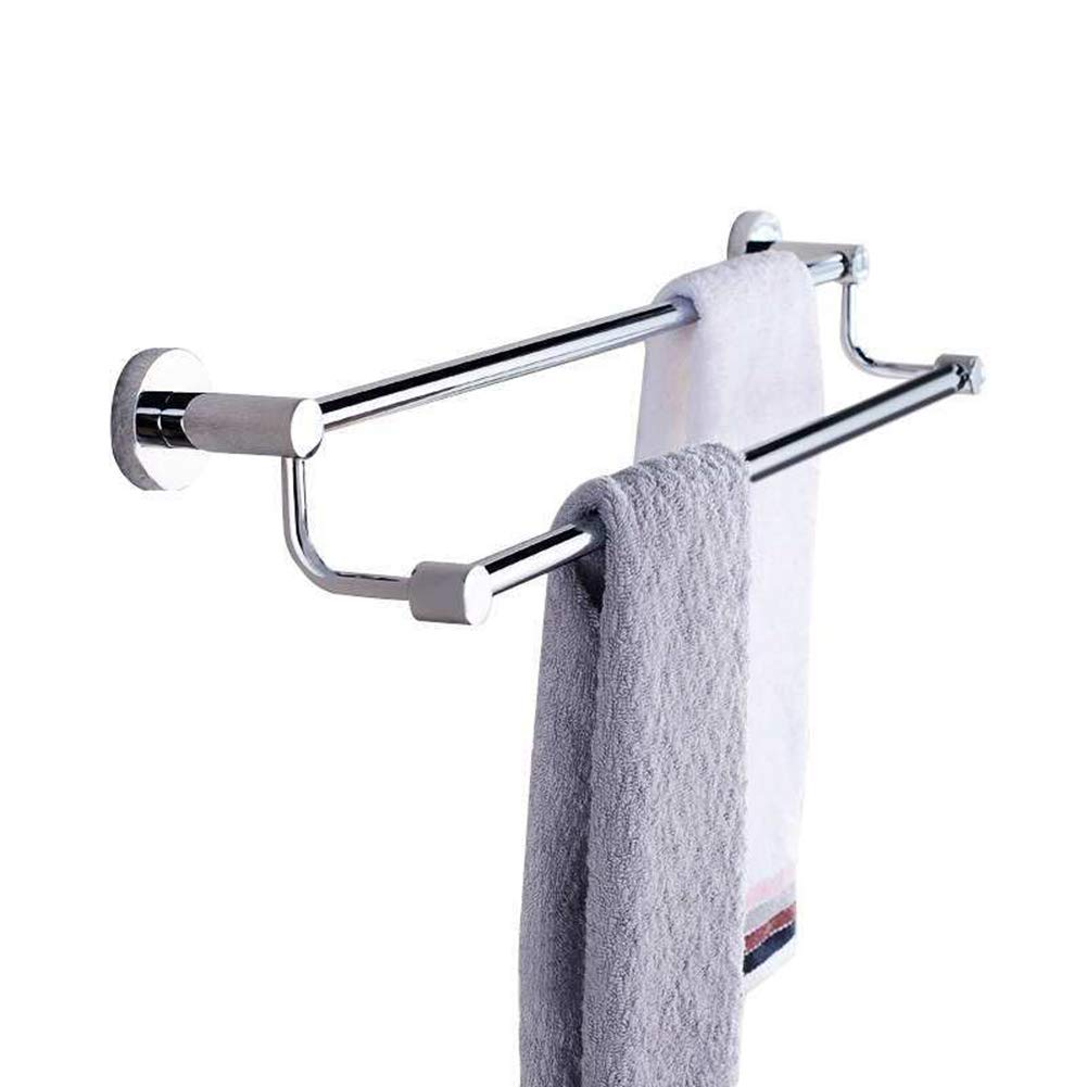 BlanceEG Double Towel Bar, SUS 304 Stainless Steel Towel Hanger Storage Wall Shelf Rack for Bathroom, Kitchen (Double Towel Bar, 24-inch)