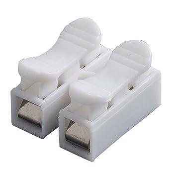 CH2 Conectores de alambre de resorte de cable el/éctrico abrazadera terminal bloque conector tira de luz LED conexi/ón de cable