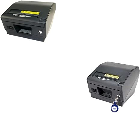 Star Micronics TSP800 Series Thermal printer, Auto-cutter/Tear Bar, USB, Gray, Paper Lock, External Power Supply Included