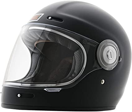 Amazon.es: Origine Casco Integral Retro Cafe Racer Vega en Fibra de vidrio (S)