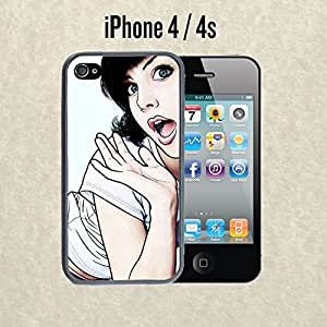 iPhone Case Cute Girl OMG for iPhone 4 /4s Plastic Black (Ships from CA)