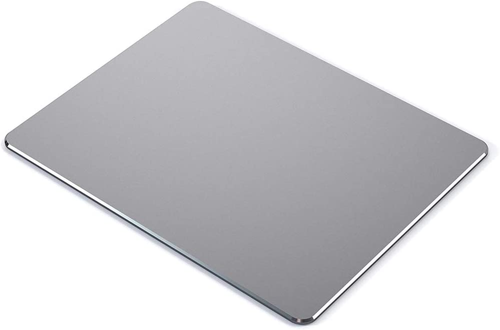 """Metal Mouse pad mat,Aluminum Alloy Mouse Pads, Double-Sided,Waterproof,Smooth,Computer Mouse pad, Suitable for Gaming Office Home Personal Use Medium 8.7""""x7.0"""" (Small Gray)"""