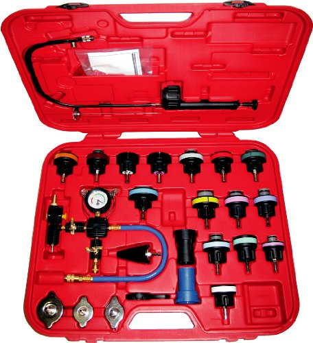 27pc Master Cooling Radiator Pressure Tester with Vacuum Purge and Refill Kit