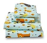 Queen Woodland Print Bed Sheet Set for Kids Bedding- Double Brushed Ultra Microfiber Luxury Bedding Set