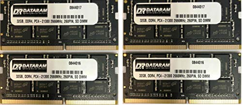 DATARAM 128GB Memory RAM Upgrade (4 x 32GB) DDR4 2666Mhz PC4-21300 CL19 SO DIMMS Compatible with The 2019 iMac 27